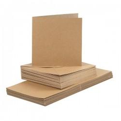Recyklované obálky s přáním - čtvercové, 50 ks
