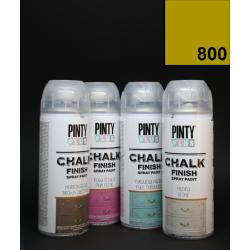 Křídový sprej Chalk Paint PintyPlus, 400 ml - hořčicový