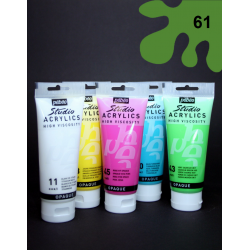 Akrylová barva zelená, 100 ml