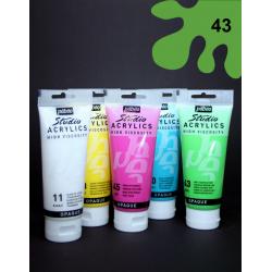 Akrylová barva světle zelená, 100 ml