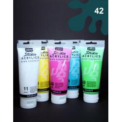 Akrylová barva petrolejová, 100 ml