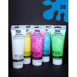 Akrylová barva azurová, 100 ml