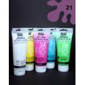 Akrylová barva fialová, 100 ml