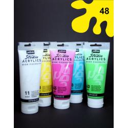 Akrylová barva žlutá, 100 ml