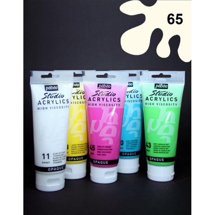 Akrylová barva slonovinová, 100 ml