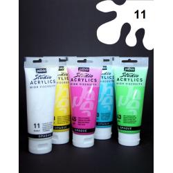 Akrylová barva bílá, 100 ml