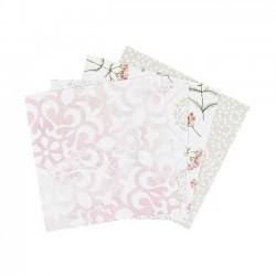 Sada origami papírů - květinové vzory, 10 x 10 cm, 40 ks