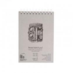 Bílý skicák SMLT art - zvýrazňovače a gel. pera, 30 x A5, 185 g