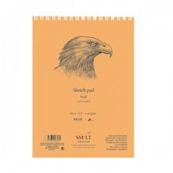 Kraftový skicák SMLT art - tužka a pero, 60 x A5, 90 g