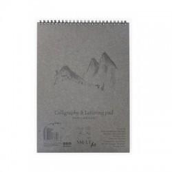 Bílý skicák SMLT art - kaligrafie, 50 x A5, 100 g