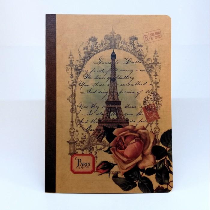 Tečkovaný sešit na kaligrafii, A5 - Eiffelova věž