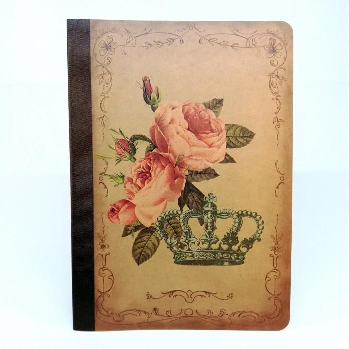 Tečkovaný sešit na kaligrafii, A5 - růže a koruna
