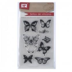 Silikonová razítka - motýli