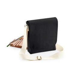 Bavlněná taška s popruhem, malá - černá