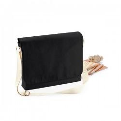 Bavlněná taška s popruhem, velká - černá