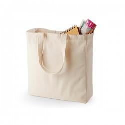Bavlněná taška se širokým dnem, kr. ucho - přírodní