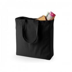 Bavlněná taška se širokým dnem - černá
