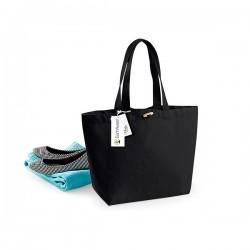 Bavlněná taška široká - černá