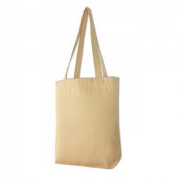 Bavlněná taška se širokým dnem, dl. ucho - přírodní
