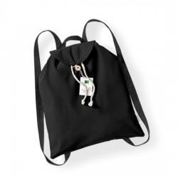Bavlněný batoh - černý