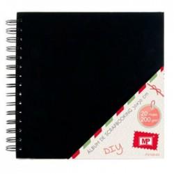 Scrapbookové album,  černé - 30 x 30 cm