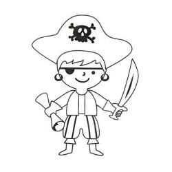 Smršťovací obrázek - pirát s kloboukem