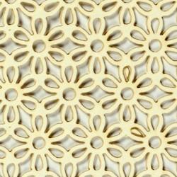 Papírové výřezy, krémově bílé - květiny