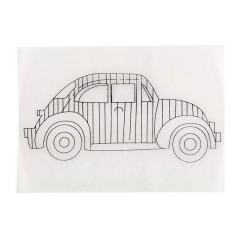 Smršťovací obrázek - auto s pruhy