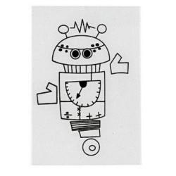 Smršťovací obrázek - robot 4