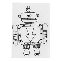 Smršťovací obrázek - robot 2