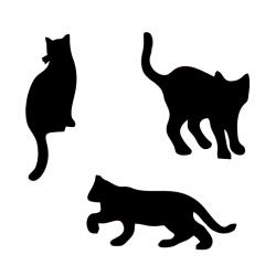 Plastová šablona - tři kočky, 013