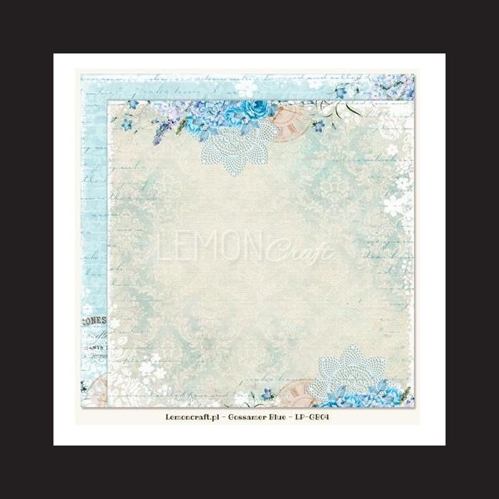 Papír na scrapbook - Gossamer Blue, 30,5 x 30,5