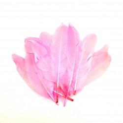 Dekorativní peří, dlouhé - růžové, 12 ks