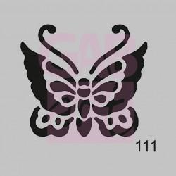 Plastová šablona - motýl, 111