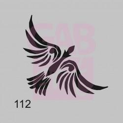 Plastová šablona - Pták Ohnivák, 112