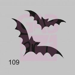 Plastová šablona - netopýři, 109