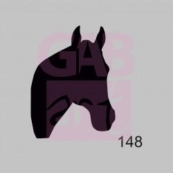 Plastová šablona - koňská hlava