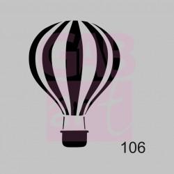 Plastová šablona - horkovzdušný balon, 106