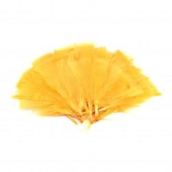 Dekorativní peří, vějíř - oranžové, 48 ks