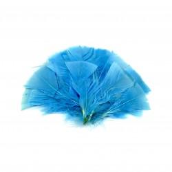 Dekorativní peří, vějíř - modré, 48 ks