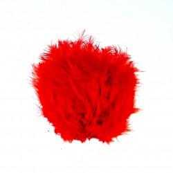 Dekorativní peří, jemné - červené, 24 ks
