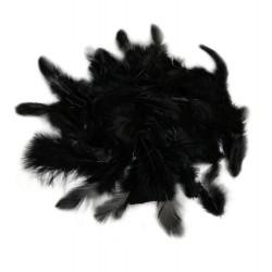 Dekorativní peří - černé, 10 g