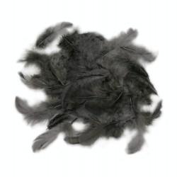 Dekorativní peří - tmavě šedé, 10 g
