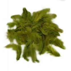 Dekorativní peří - olivové, 10 g