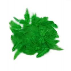 Dekorativní peří - zelené, 10 g