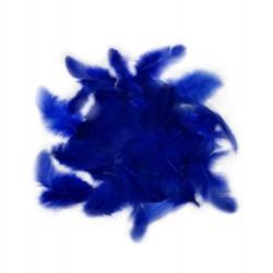Dekorativní peří - tmavě modré, 10 g
