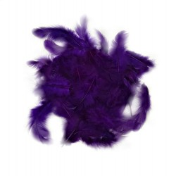 Dekorativní peří - tmavě fialové, 10 g