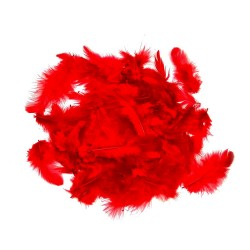 Dekorativní peří - červené, 10 g