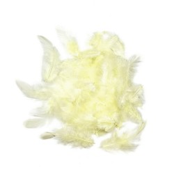 Dekorativní peří - vanilkové, 10 g