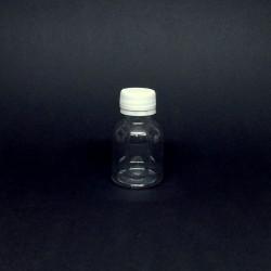 Plastová lahvička, průhledná s víčkem, 50 ml